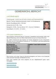 Mein GWÖ-Bericht RSS-Feed abonnieren - Christian Rüther