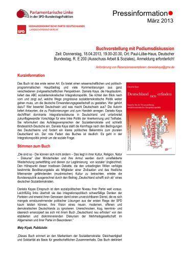 Presseinformationen zur Buchveröffentlichung - Verband ...
