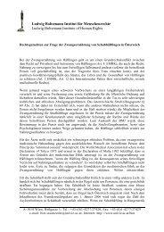 Kurzgutachten Zwangsernährung - Ludwig Boltzmann Institut für ...