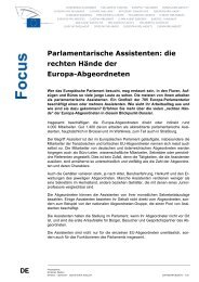Übersicht: Assistentenjob im Europäischen Parlament