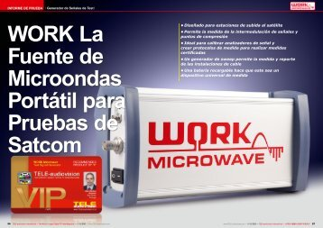 WORK La Fuente de Microondas Portátil para Pruebas de Satcom