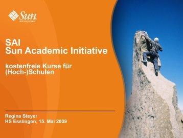 SAI Sun Academic Initiative - IT-Bildungsnetz eV