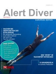 FREE DIVING Alert Diver Magazine berichtet von nun ... - DAN Europe