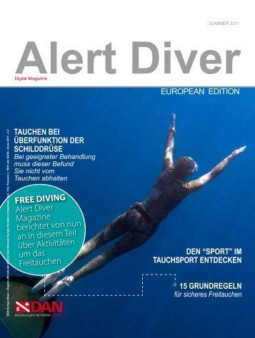 FREE DIVING Alert Diver Magazine berichtet von nun ... - DAN Europe