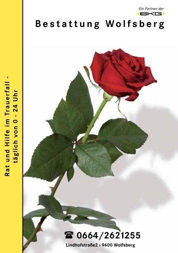 Ratgeber im Trauerfall - bei der Bestattung Wolfsberg