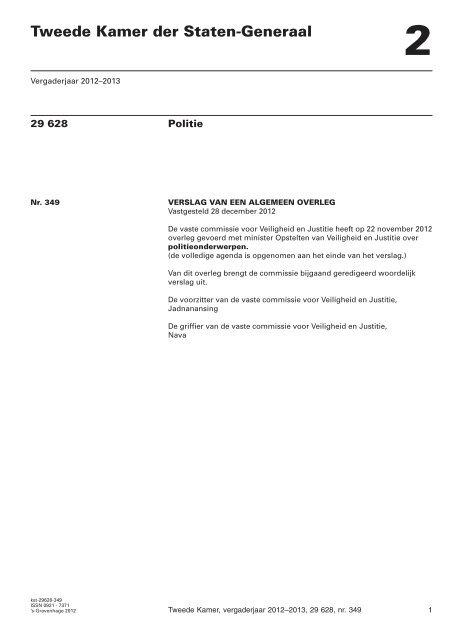 Verslag van een algemeen overleg, gehouden op 22 november ...