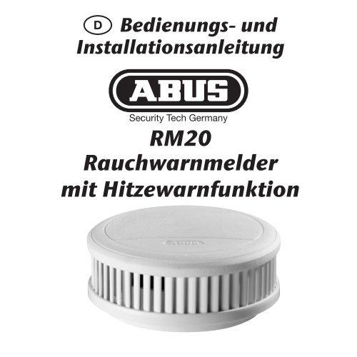 ABUS Montage-Anleitungen RM 20