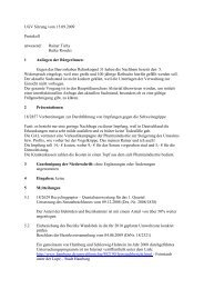 UGV Sitzung vom 15.09.2009 Protokoll anwesend ... - Heike Roocks