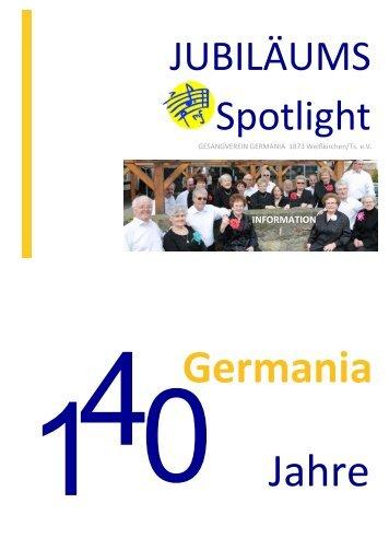 Jubiläums Broschüre Spotlight 2013 – 140 Jahre Germania (PDF)