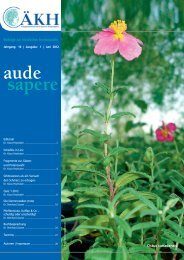 aude sapere - Ärztegesellschaft für Klassische Homöopathie