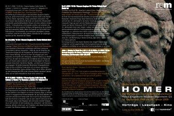 HOMER - Der Mythos von Troia in Dichtung und Kunst