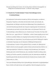 C.5 Jenseits des Neodarwinismus? Neuere Entwicklungen in der ...