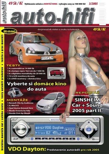 SINSHEIM Car + Sound 2005 part II. Vyberte si domáce kino ... - Morel