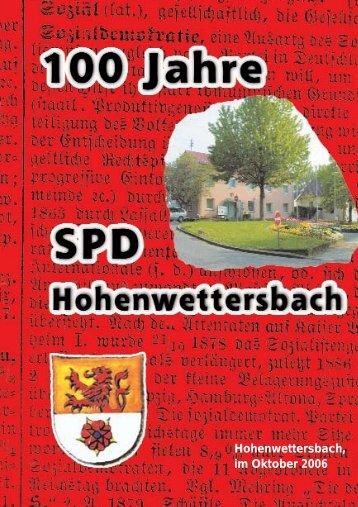 Jubiläumsschrift - spd-hohenwettersbach.de
