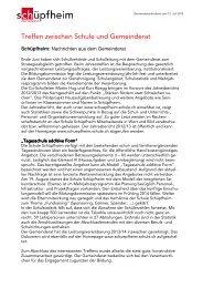 Gemeindenachrichten 12.07.2013 - Gemeinde Schüpfheim
