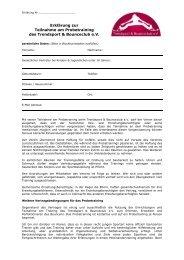 Vereinbarung zum Probetraining - Bounceclub.de