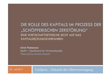 Die Rolle des Kapitals im Prozess der - MeM – Denkfabrik für ...