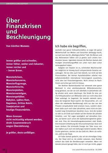 Finanzkrisen - Prof. Günther Moewes
