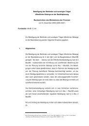 Beteiligung der Behörden und sonstigen Träger öffentlicher Belange ...