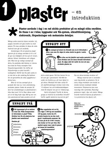 Plastics in the classroom - Sweden - Plaster -en introduktion