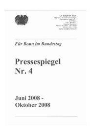 PRESSESPIEGEL 04: Juni 2008 - Stephan Eisel