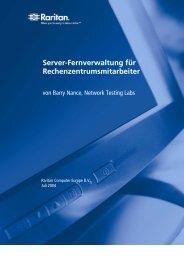 Server-Fernverwaltung für Rechenzentrumsmitarbeiter