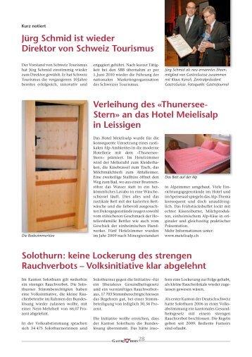 Jürg Schmid ist wieder Direktor von Schweiz ... - GastroBern