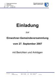 Einladung zur Einwohner–Gemeindeversammlung - Frenkendorf