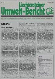 Umweltbericht Nr. 18 vom Oktober 1985 - Liechtensteinische ...
