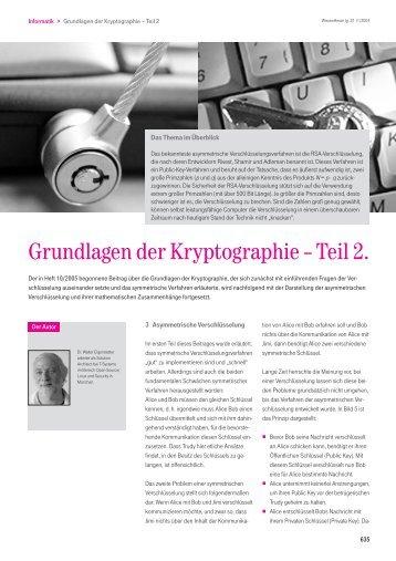 Informatik: Grundlagen der Kryptographie – Teil 2