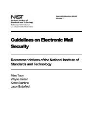 NIST SP 800-45 Version 2, Guidelines on Electronic Mail Security