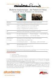 Moderne Implantologie – der Patient im Fokus - Akademie für orale ...