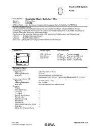 instabus EIB System Aktor Schaltaktor 3fach / Schließer / 10 A ... - Gira