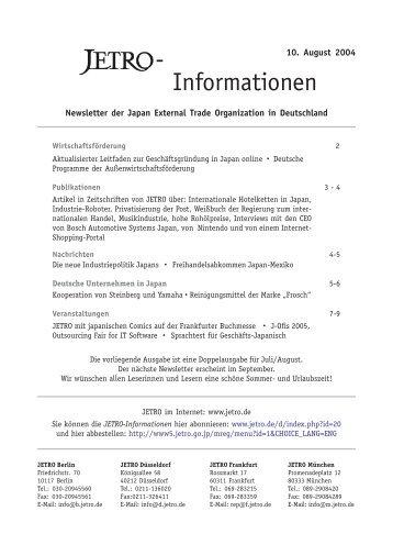 - Informationen - JETRO