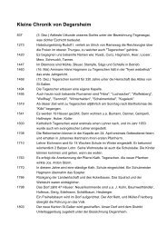 Kleine Chronik von Degersheim
