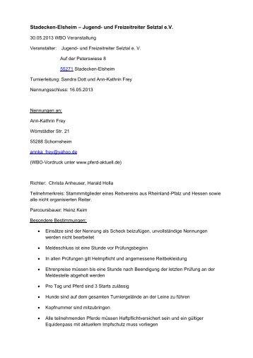 findet ihr die Ausschreibung für das WBO-Turnier am 30.05.2013