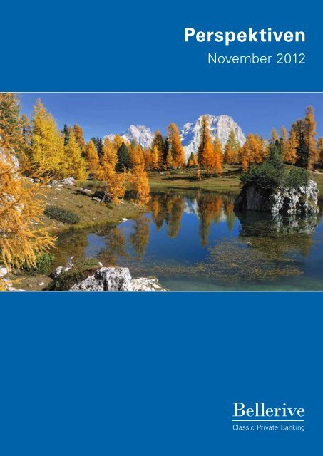 Perspektiven November 2012 - Privatbank Bellerive
