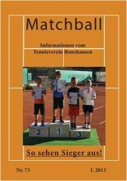 Matchball I.2013 - tennisverein-ronshausen.de