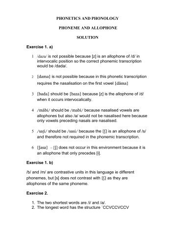 PHONETICS AND PHONOLOGY PHONEME AND ALLOPHONE ...