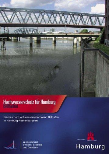 Hochwasserschutz für Hamburg, Billhafen - Landesbetrieb Strassen ...