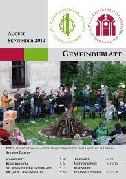 GOTTESDIENSTE SEPTEMBER 2012 - Auferstehungskirche ...