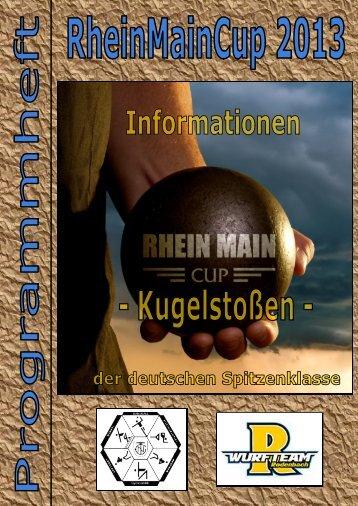 Programmheft - RHEIN MAIN CUP