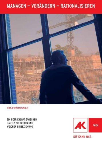 Managen - Verändern - Rationalisieren - Arbeiterkammer