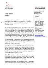 Press release - Ministerium für Wirtschaft und ...