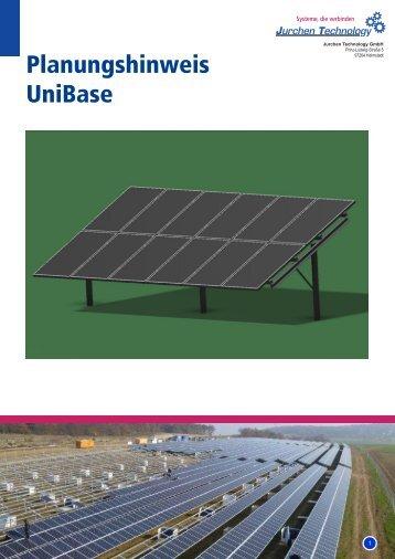 Planungshinweis UniBase - Jurchen Technology GmbH