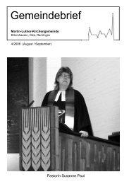 Gemeindebrief Nr. 4/2008 - Martin-Luther-Kirchengemeinde ...