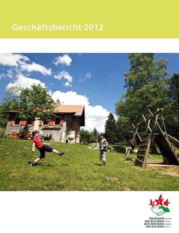 Geschäftsbericht 2012 - Naturfreunde Schweiz