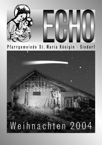 Weihnachtsecho - Katholische Kirchengemeinde St. Maria Königin ...