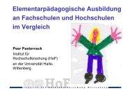Vergleich - Peer Pasternack
