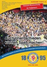 Heft 13: SC Paderborn - FanPresse Braunschweig